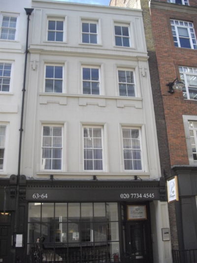 63-64 Frith Street 2015 - used to house al camino pizzeria.jpg. Click on the picture to enlarge