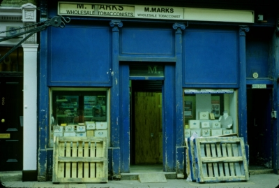 21 Greek Street - M Marks, Wholesale Tobacconist.jpg. Click on the picture to enlarge