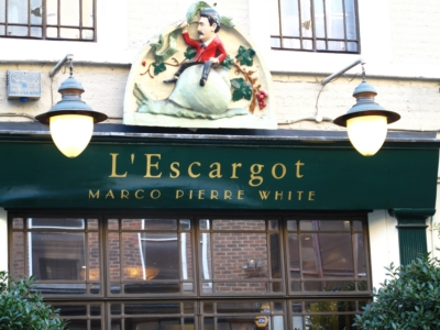 48 Greek Street 2010 6 October  - Restaurant l'Escargot.jpg. Click on the picture to enlarge